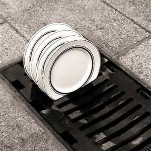 Dish Rack Drain