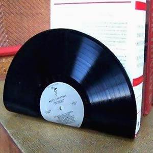 DIY Record Bookends