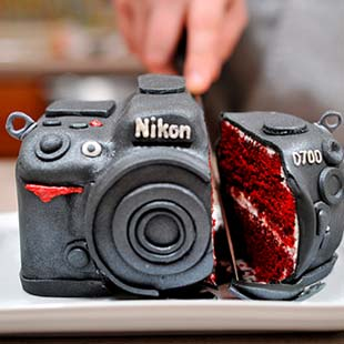 Camera Cake Sculpture