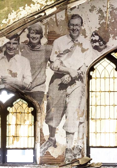 Vintage Photo On A Church Wall