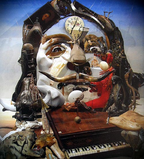 Anamorphic Salvador Dali Portrait Installation