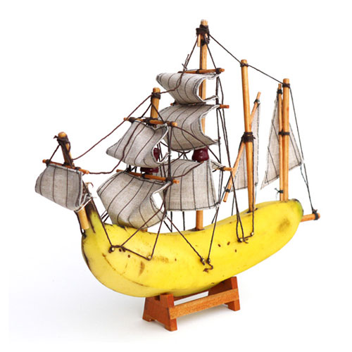 Banana Ship Sculpture