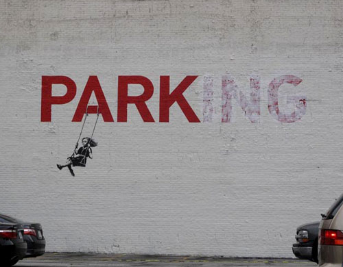 Banksy Park Swing Graffiti