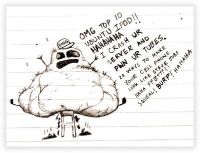 Digg Website Doodle