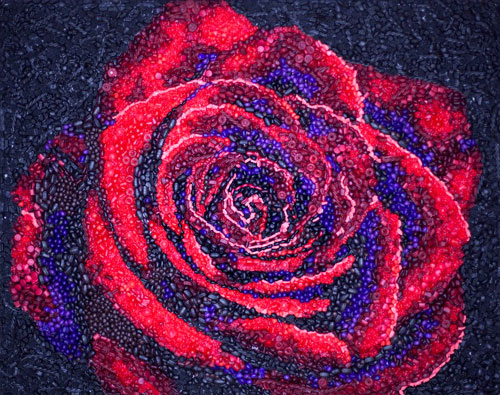 Candy Rose Mosaic