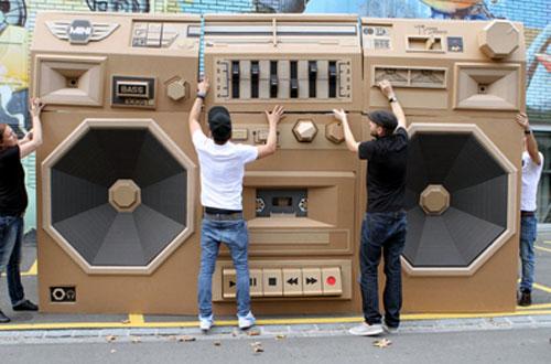 Giant Cardboard Boombox