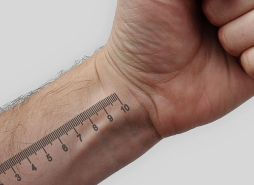 Measurements Wrist Tattoo