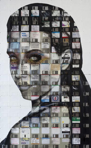Floppy Disk Portrait