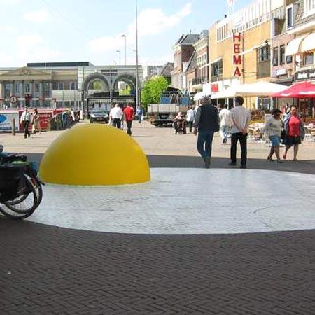 Giant Sunny Side Up Egg Art