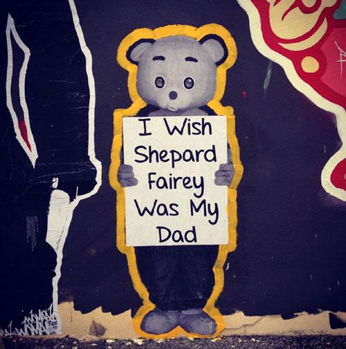 Crummy Gummy Street Art | I Wish Shepard Fairy Was My Dad