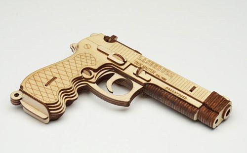 Wood Gun Model Puzzle