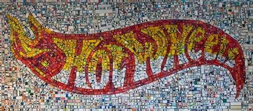 Hot Wheels Logo Mosaic