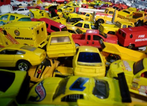 Red And Yellow Hot Wheels Cars