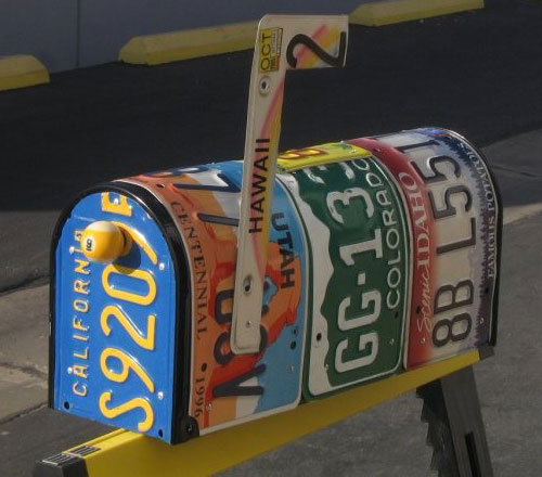 License Plate Mailbox