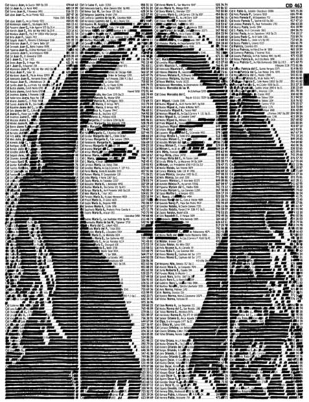 Marker Portraits On Phone Book Pages