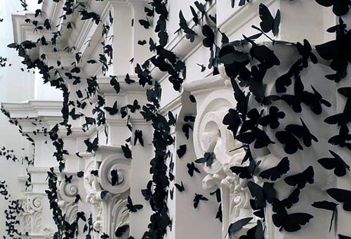 Paper Moths Installation