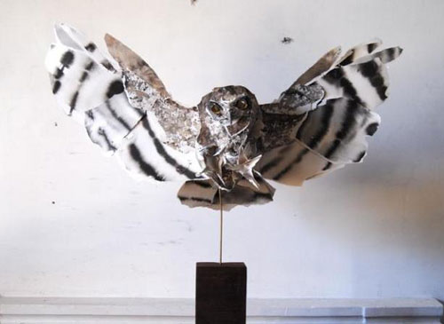 Paper Owl Sculpture