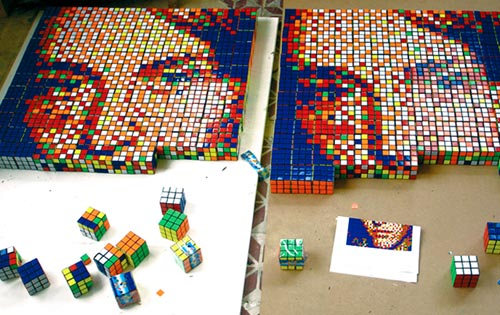 Rubiks Cube Portrait Artwork