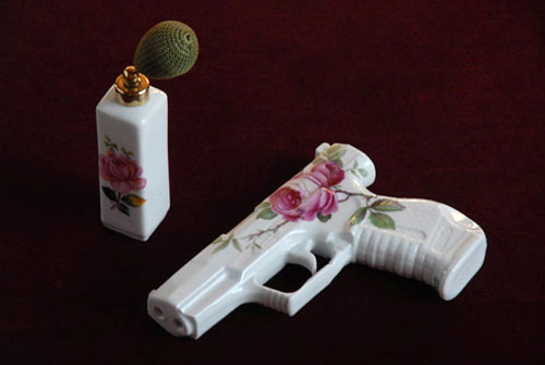 Porcelain Gun And Tea Set