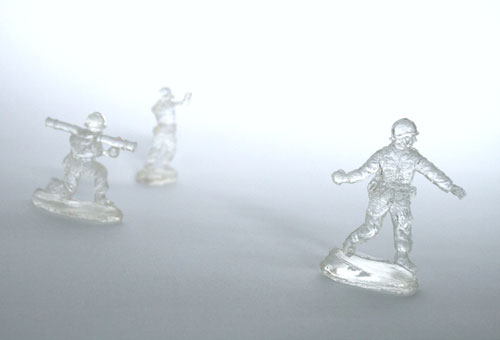 Transparent Cast Resin Army Men