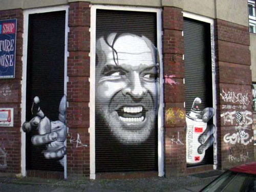 Here's Johnny! Shining Mural