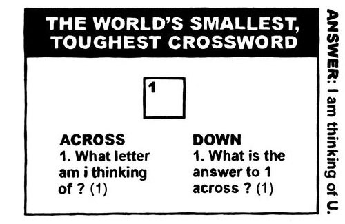 Smallest Crossword Puzzle