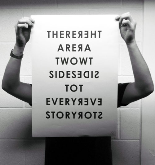 Two Sides To Every Story Letter Art