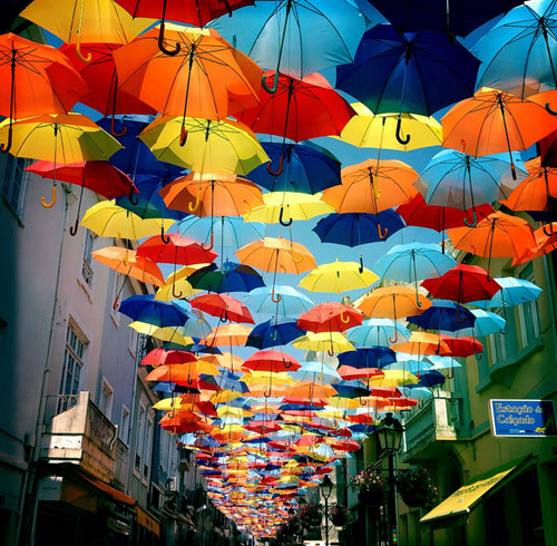 Umbrella Street Canopy In Portugal