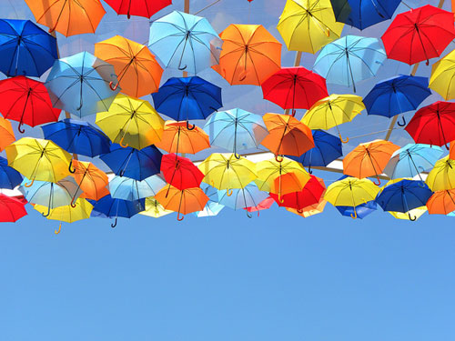 Umbrella Sky Project In Portugal