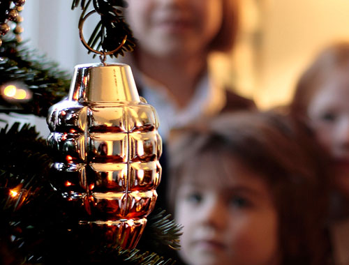 Grenade Shaped Christmas Tree Ornaments