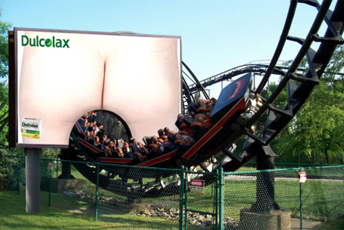 Roller Coaster Through Dulcolax Billboard