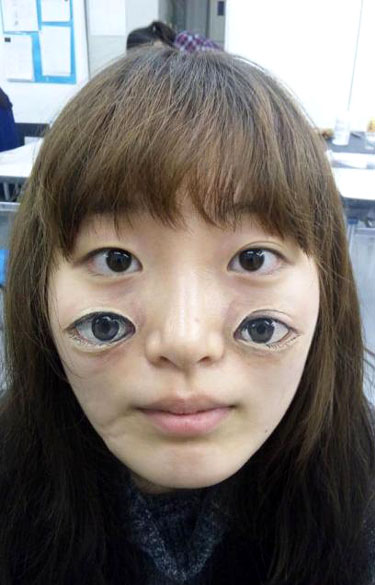 Bizarre Eyes Face Painting