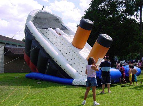 Inflatable Titanic Bouncy Boat