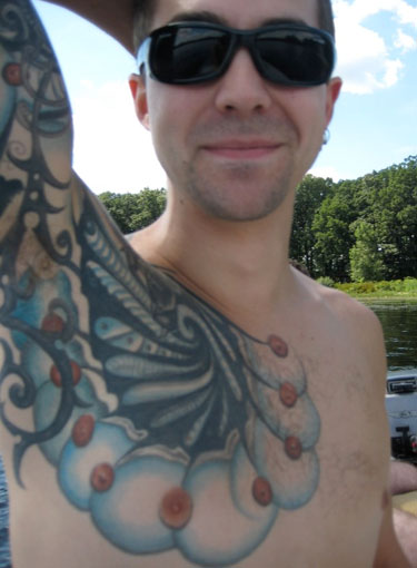 bizarre tattoo. Tags: nipples, photo, tattoo