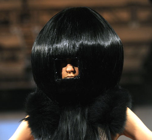 Bizarre Peephole Wig