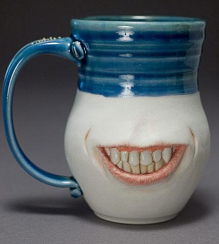Grinning Pottery Mug