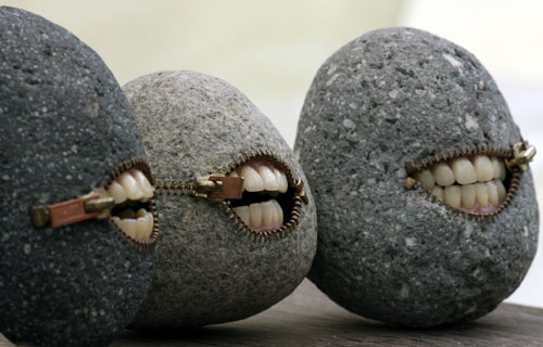 Stoned Grins Sculpture