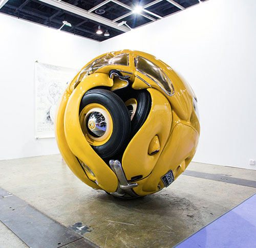 1953 Volkswagen Beetle Shaped Into A Ball