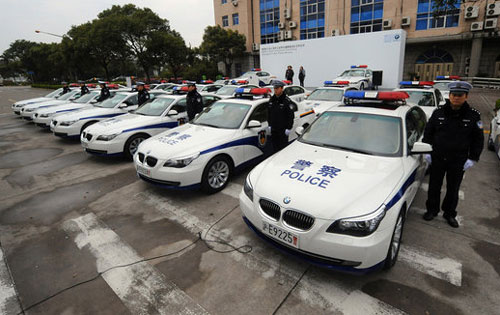 Shanghai BMW Police Cars