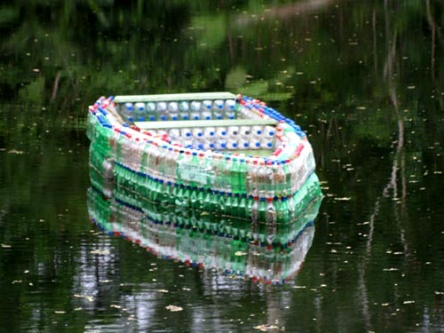 Upcycled Bottle Boat