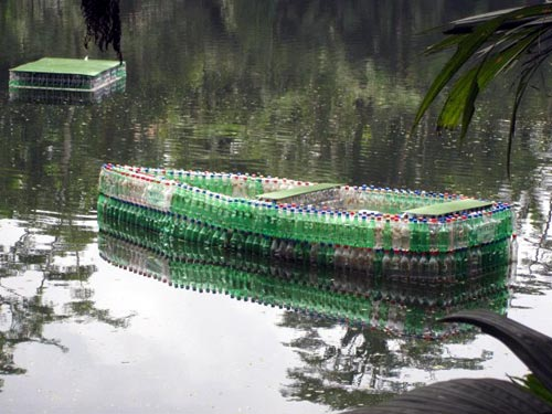Plastic Bottle Raft