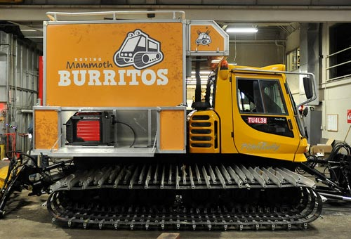 Mommoth Mountain's Burrito Snowcat