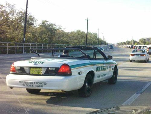 Convertible Police Cruiser