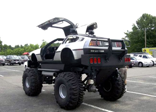 Lifted DeLorean DMC-12 4X4