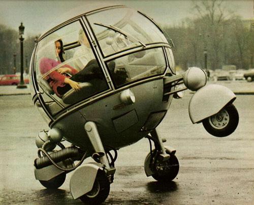 Futuristic Gyro Car