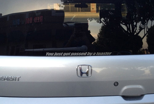 Honda Element Sticker - You Just Got Passed By A Toaster