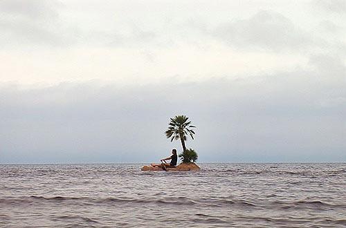 Deserted Island Raft
