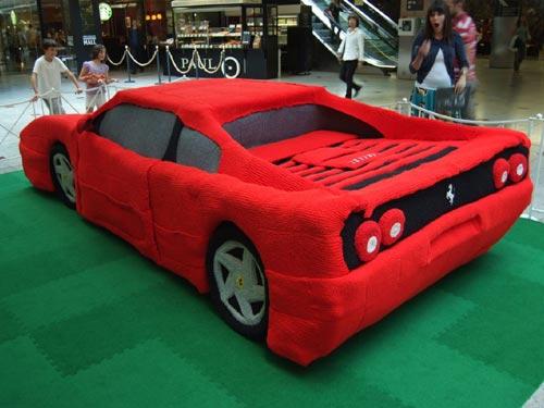 Full-Size Knit Ferrari