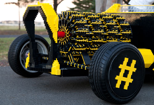 Life Size Air Powered Lego Car With Four Orbital Engines