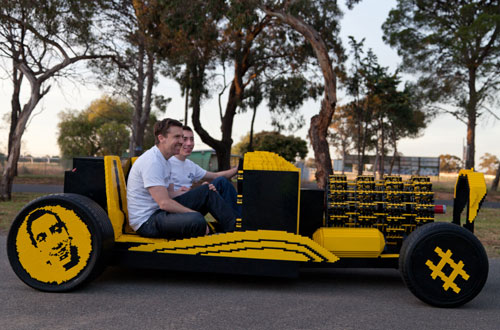 Life Size Car Made From Lego